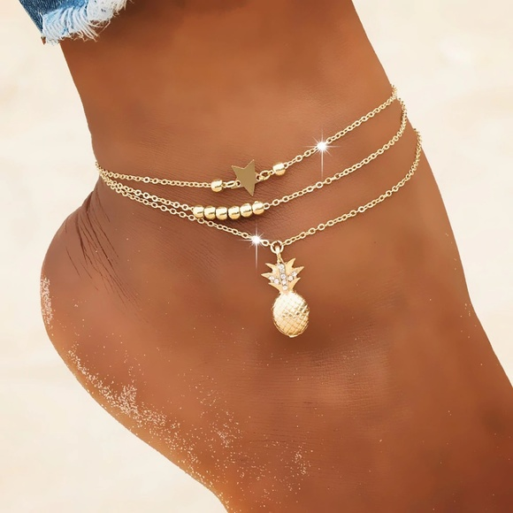 Star Posh Jewelry - Pineapple Star Anklet